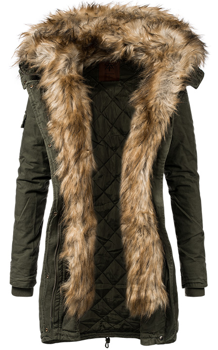 anonymous famous damen winter parka mantel jacke. Black Bedroom Furniture Sets. Home Design Ideas