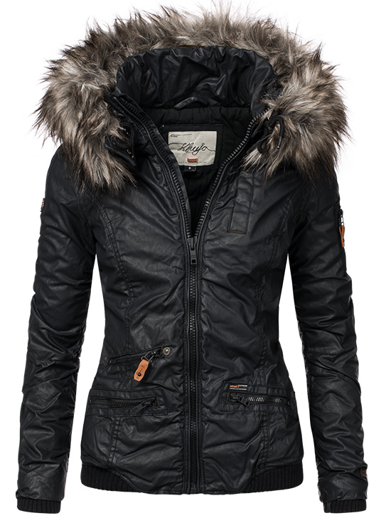 khujo bryanna beschichtete damen winter baumwoll jacke coated parka mantel s xxl ebay. Black Bedroom Furniture Sets. Home Design Ideas