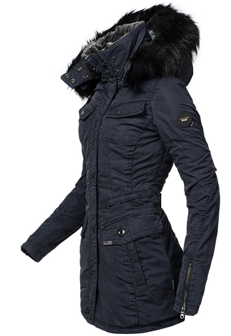 khujo chives gef tterter damen winter parka mantel jacke kunstpelz kragen kapuze ebay. Black Bedroom Furniture Sets. Home Design Ideas