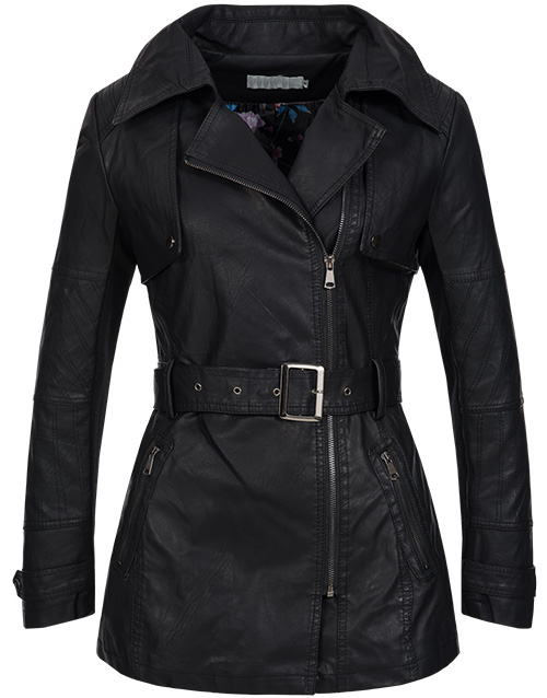 damen bergangs kunst leder mantel biker jacke parka. Black Bedroom Furniture Sets. Home Design Ideas