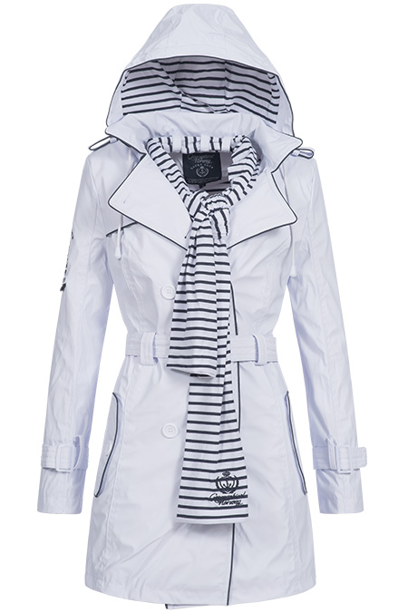 geographical norway damen trenchcoat bergangs mantel parka regen jacke azur ebay. Black Bedroom Furniture Sets. Home Design Ideas