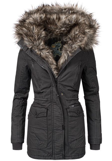 khujo mangala damen winter parka mantel jacke gef ttert. Black Bedroom Furniture Sets. Home Design Ideas