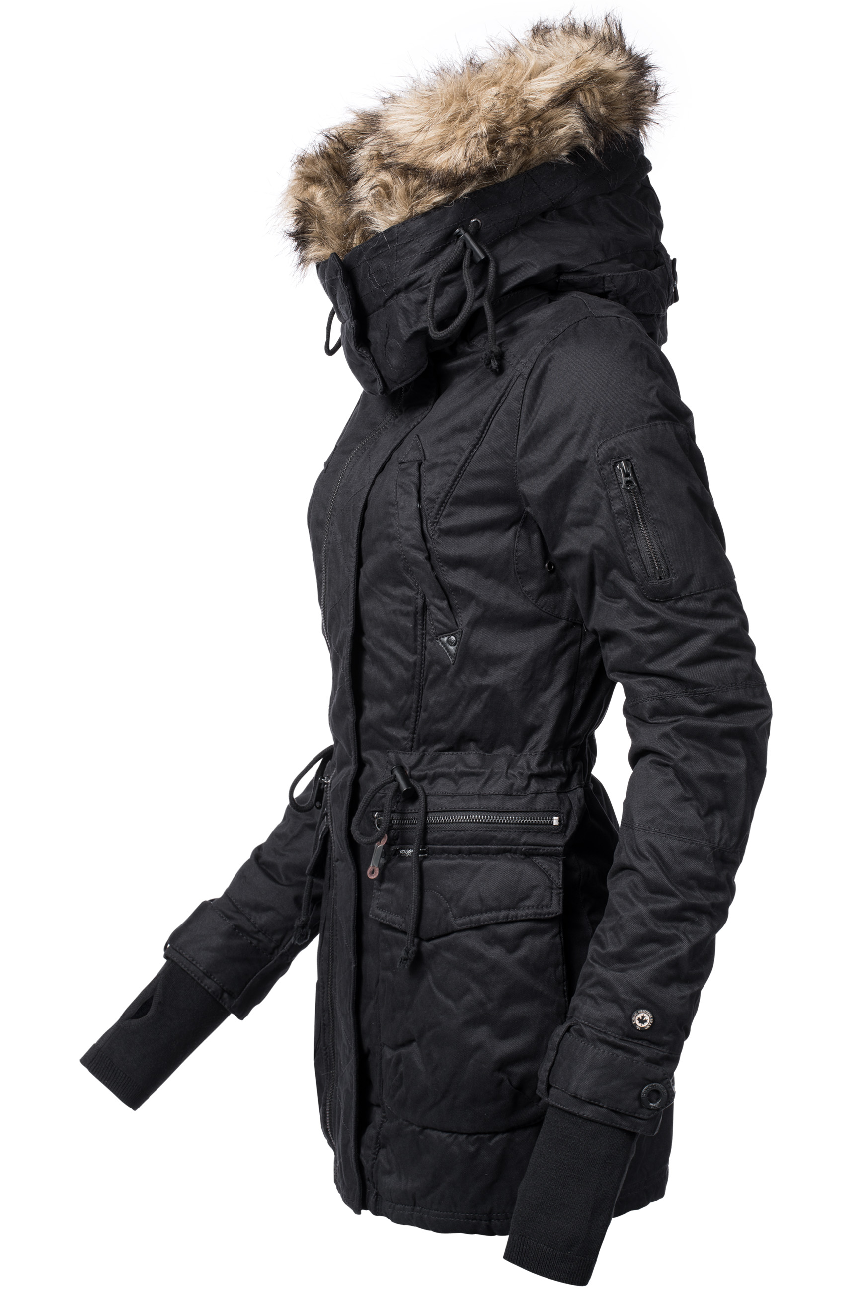 khujo chevril damen winter baumwoll parka mantel jacke kunstpelz kapuze ebay. Black Bedroom Furniture Sets. Home Design Ideas