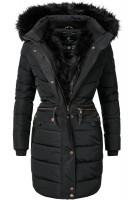 buy online aa224 2945c Navahoo Damen Winter Mantel Steppmantel Paula (vegan hergestellt) Schwarz